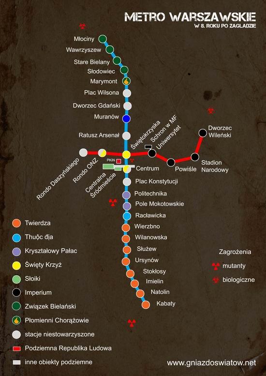 Opowieści zpostapokaliptycznej aglomeracji - Warszawskie Metro w8. Roku poZagładzie