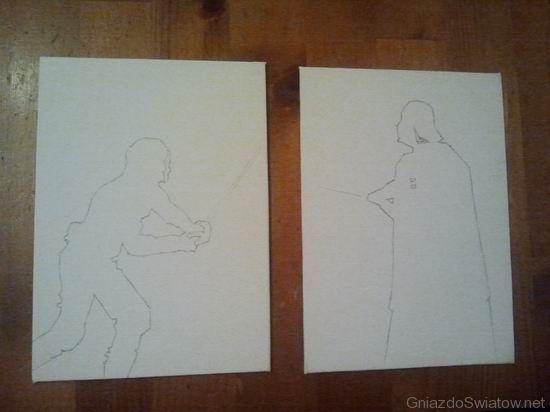 Ojciec i syn - szkic