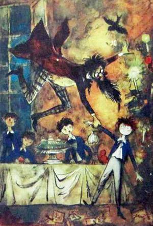 Ambroży i Alojzy rys. Jan Marcin Szancer