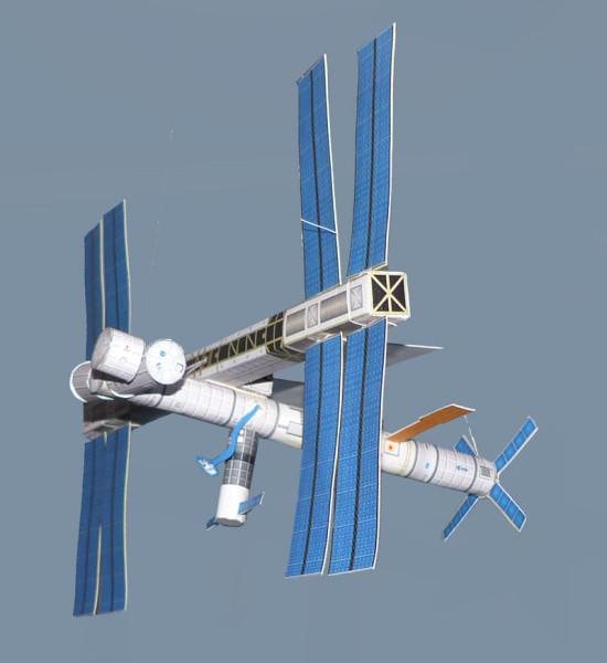 Międzynarodowa Stacja Kosmiczna skala 1/200