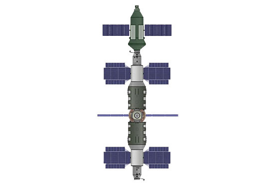 Ryc. i - Międzynarodowa baza satelitarna Europa - stacja kosmiczna trzeciej generacji